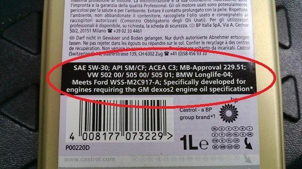 Где указываются допуски автомобильных масел на этикетке канистры